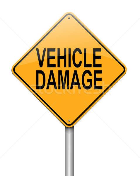 Vehicle damage sign. Stock photo © 72soul
