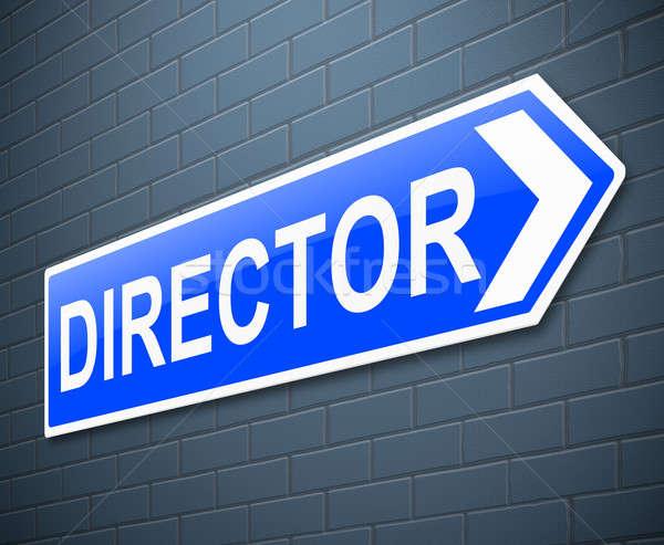 Director ilustración signo negocios azul Foto stock © 72soul