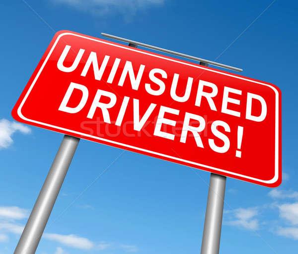 Illustration signe graphique assurance accident panneau routier Photo stock © 72soul