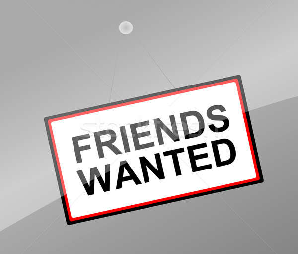 Friends wanted concept. Stock photo © 72soul