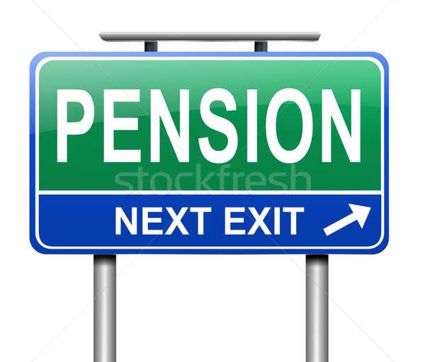 Pension illustration signe route sécurité bleu Photo stock © 72soul