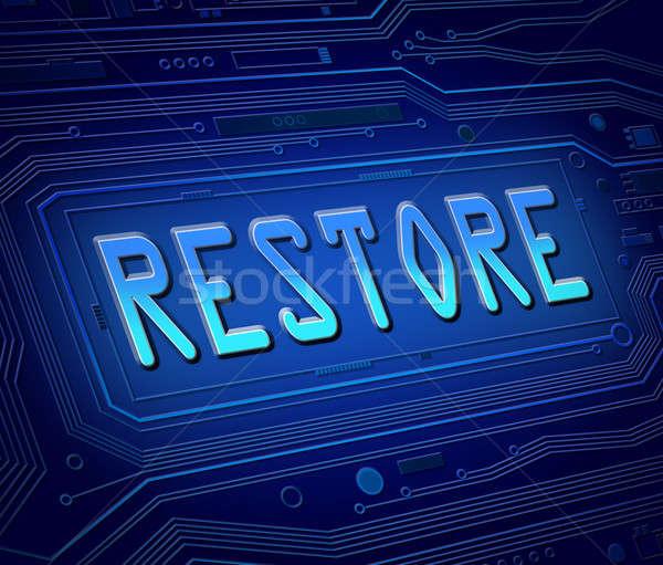 Restore concept. Stock photo © 72soul