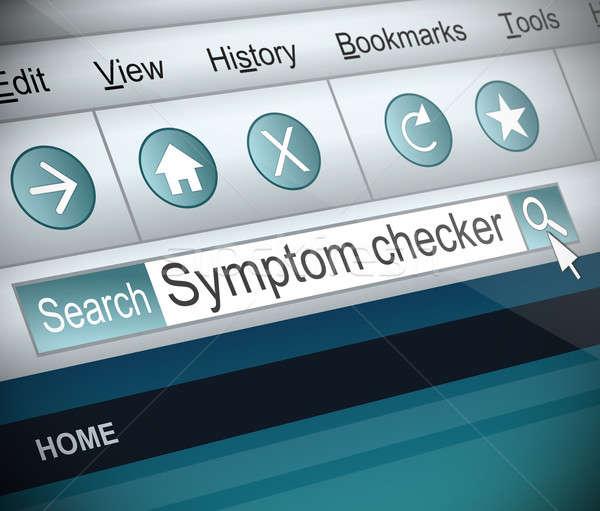Symptôme illustration capture d'écran internet recherche ordinateur Photo stock © 72soul