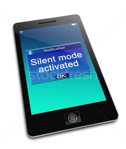 Silent mode concept. Stock photo © 72soul