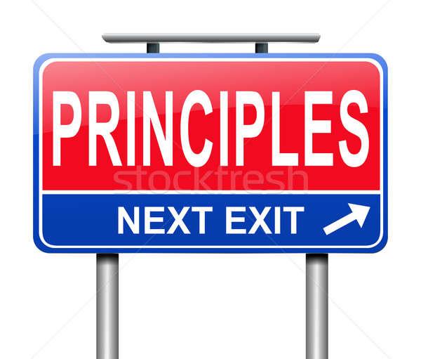 Principi illustrazione segno grafica post insegnamento Foto d'archivio © 72soul