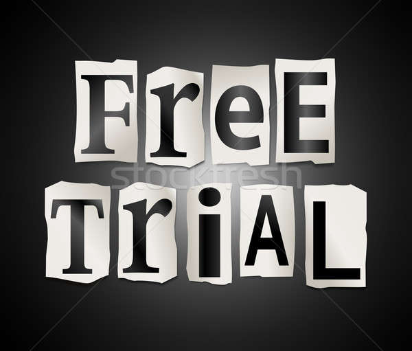 Free trial concept. Stock photo © 72soul