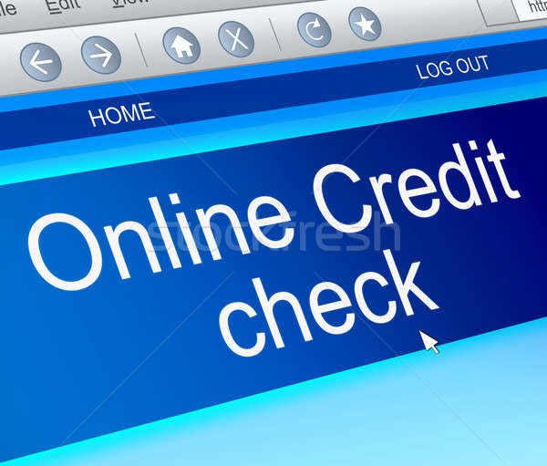 Online credit check. Stock photo © 72soul