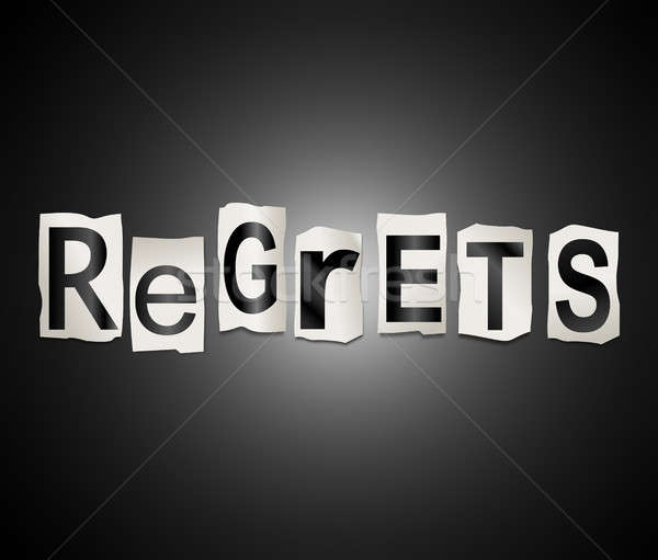 Regrets word concept. Stock photo © 72soul