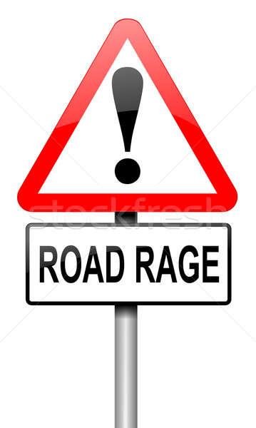 Estrada raiva ilustração sinaleiro branco viajar Foto stock © 72soul