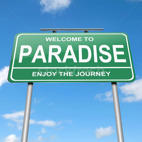 楽園 実例 緑 青空 道路 ストックフォト © 72soul