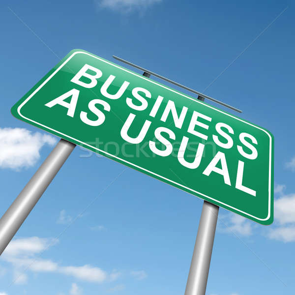 Business as usual. Stock photo © 72soul