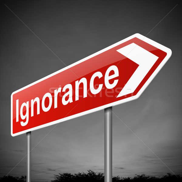 Ignorância ilustração assinar fundo ruim conceptual Foto stock © 72soul
