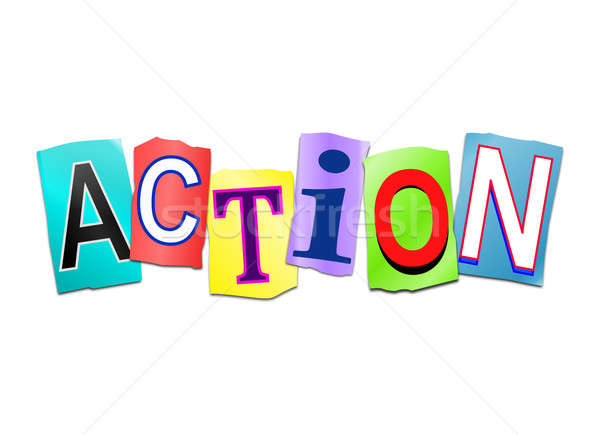 Action word concept. Stock photo © 72soul