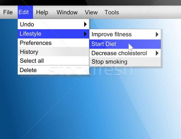 életstílus illusztráció képernyő lövés egészséges életmód étel Stock fotó © 72soul