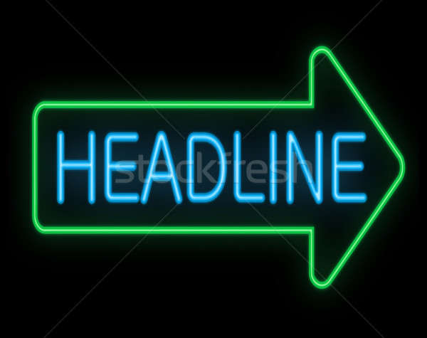 Headline concept. Stock photo © 72soul