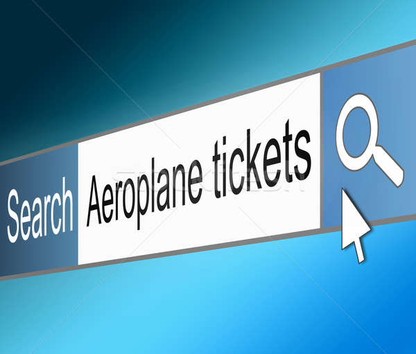 Air travel tickets search. Stock photo © 72soul