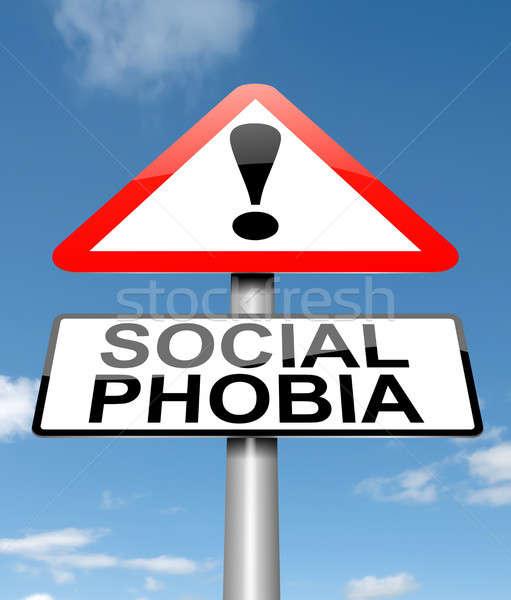 Social fobia ilustração assinar saúde fundo Foto stock © 72soul