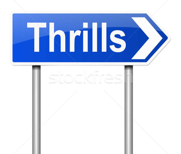 Thrills sign. Stock photo © 72soul