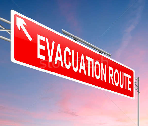 Evacuation route sign. Stock photo © 72soul
