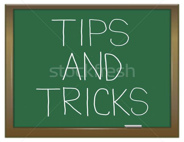 Tipps Illustration grünen Tafel helfen Lernen Stock foto © 72soul