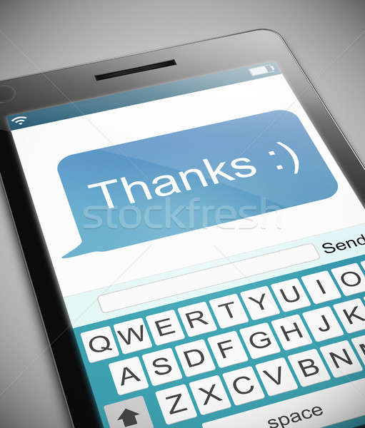 Thanks text message concept. Stock photo © 72soul