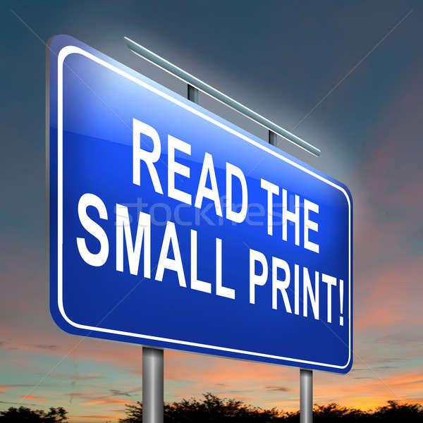 Pequeno imprimir ilustração ler Foto stock © 72soul
