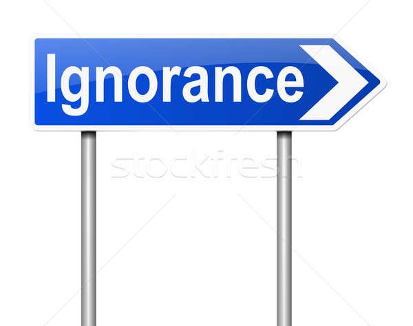Ignorância ilustração assinar branco ruim conceptual Foto stock © 72soul
