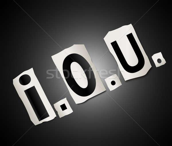 I owe you. Stock photo © 72soul