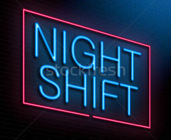Gece vardiya örnek neon çalışmak Stok fotoğraf © 72soul