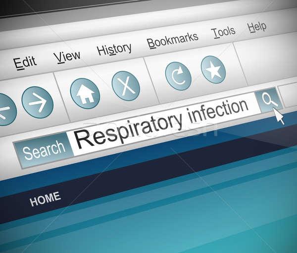 呼吸器の 感染 実例 スクリーンショット インターネット 検索 ストックフォト © 72soul