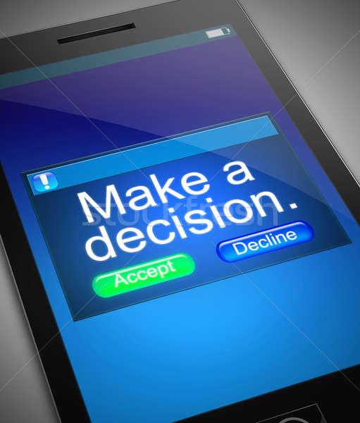 La toma de decisiones ilustración teléfono decisión móviles Screen Foto stock © 72soul