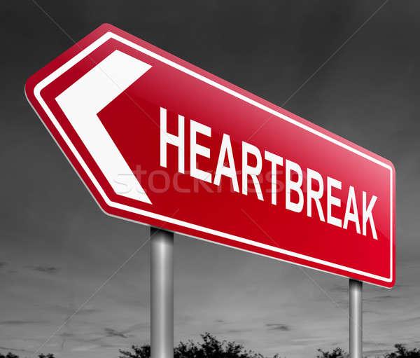 Heartbreak sign concept. Stock photo © 72soul