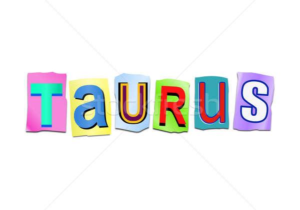 Taurus word concept. Stock photo © 72soul