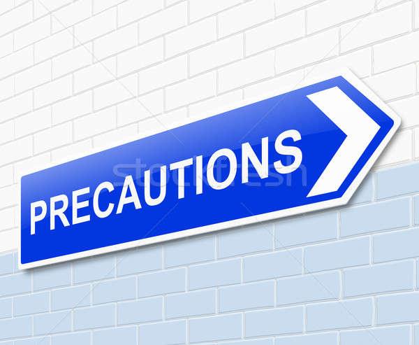 Stock photo: Precautions sign concept.