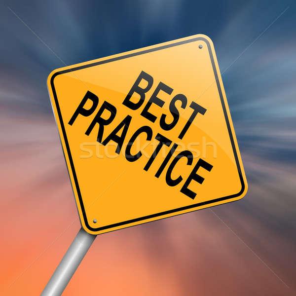Mejor práctica ilustración resumen fondo Foto stock © 72soul