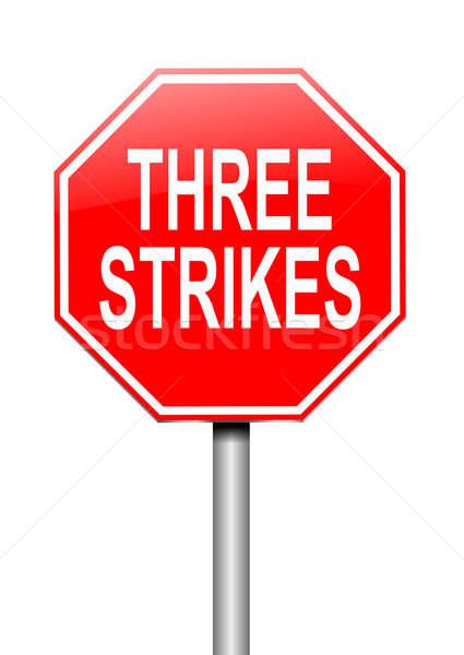 три иллюстрация знак дороги фон прав Сток-фото © 72soul