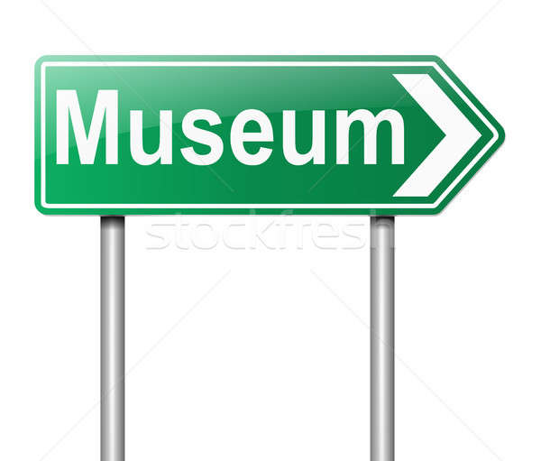 Museum sign. Stock photo © 72soul