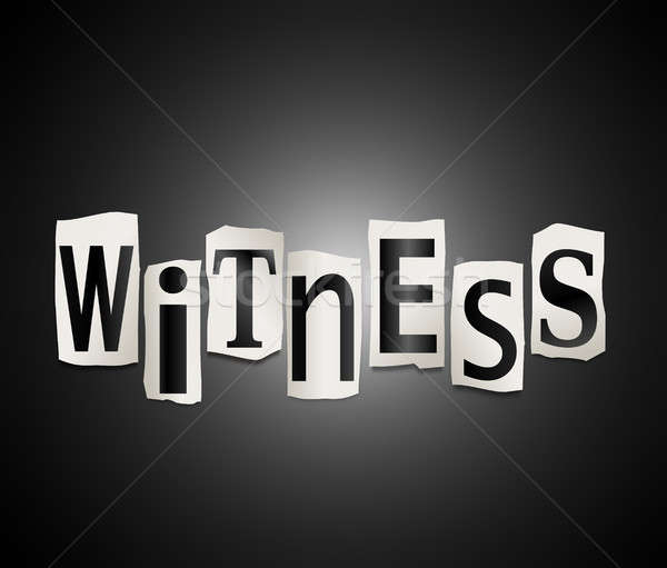 Witness concept. Stock photo © 72soul