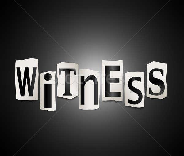 Testigo ilustración cartas forma palabra Foto stock © 72soul
