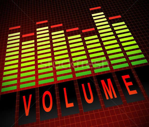 Hangerő illusztráció grafikus hangszínszabályozó szint rácsok Stock fotó © 72soul