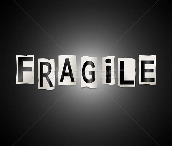 Fragile mot illustration imprimé Photo stock © 72soul