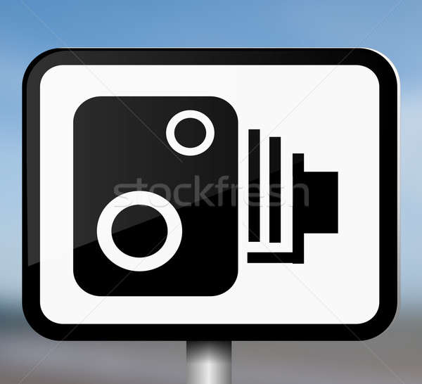 Speed camera sign. Stock photo © 72soul