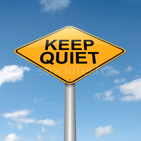 Keep quiet concept. Stock photo © 72soul