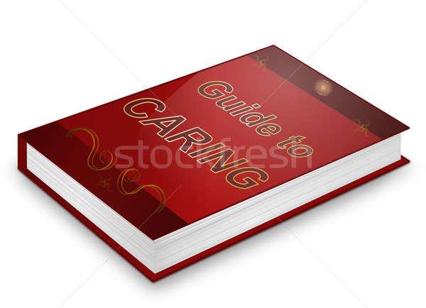 Tanul törődés illusztráció könyv cím fehér Stock fotó © 72soul