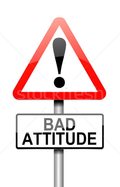 Mal actitud ilustración signo blanco enojado Foto stock © 72soul