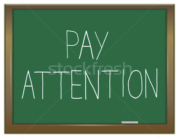 Pay attention concept. Stock photo © 72soul