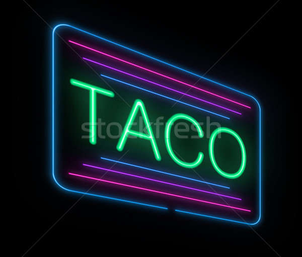 Neon taco sign. Stock photo © 72soul