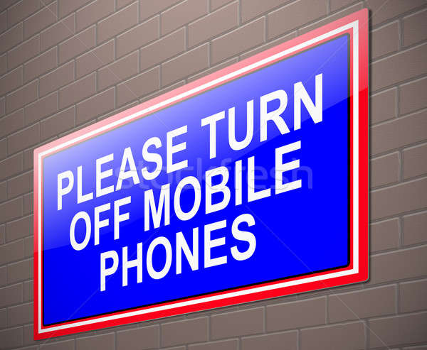 Turn off phone concept. Stock photo © 72soul
