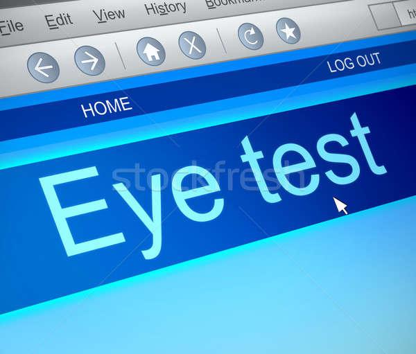視力検査 実例 コンピュータの画面 捕獲 コンピュータ 眼 ストックフォト © 72soul
