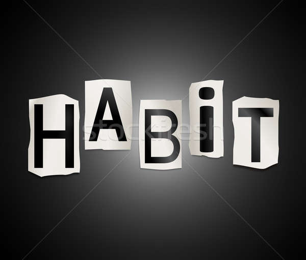 Habitude mot illustration imprimé Photo stock © 72soul